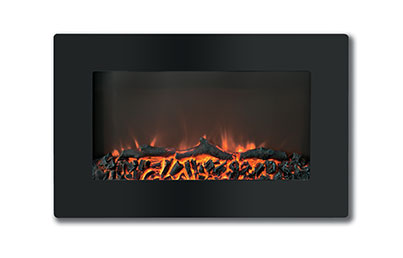 Electric Fireplaces-X30WMEF1BLK(BLT-999W-2)-LOG