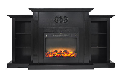 Electric Fireplaces-X7233-1BLK