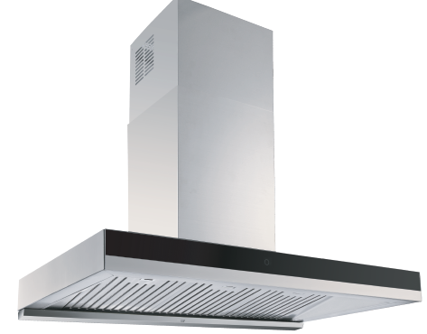 Wall-Mount Range Hood Extraction, 90cm RHWM-3 EXT/REC, Stainless Steel Finish, 90cm, 850 m3/h,