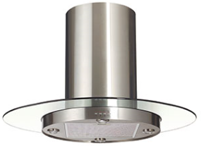 Island-Mount Range Hood Extraction, 90cm RHIM-2 EXT, Stainless Steel Finish, 90cm, 700m3/h,