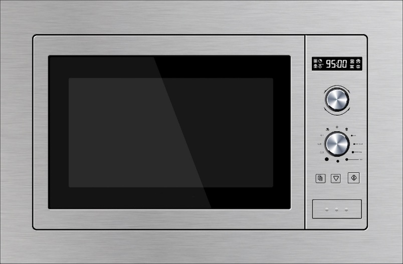 BUILT-IN MICROWAVE OVEN (MWO-01S) WITH TRIMKIT  Stainless Steel Finish, 60cm/ 24inches, 25 Liter cavity.